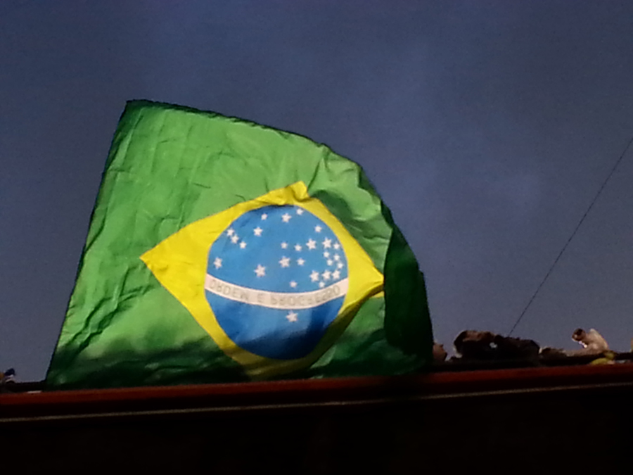 Es braut sich was zusammen über Brasilien. © Christoph Nußbaumeder