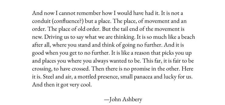 © John Ashbury