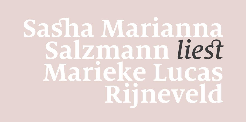 Sascha Marianna Salzmann liest Marieke Lucas Rijneveld
