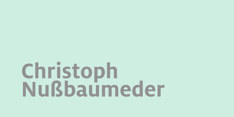 Durch die Bibliothek...: Christoph Nußbaumeder