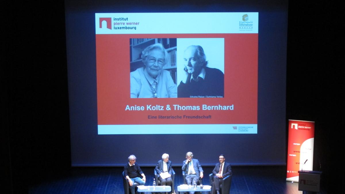 von links: Germain Wagner, Anise Koltz, Raimund Fellinger und Henning Marmulla