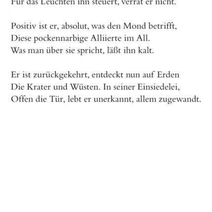 Gedicht Endymion aus Cyrano oder Die Rückkehr vom Mond