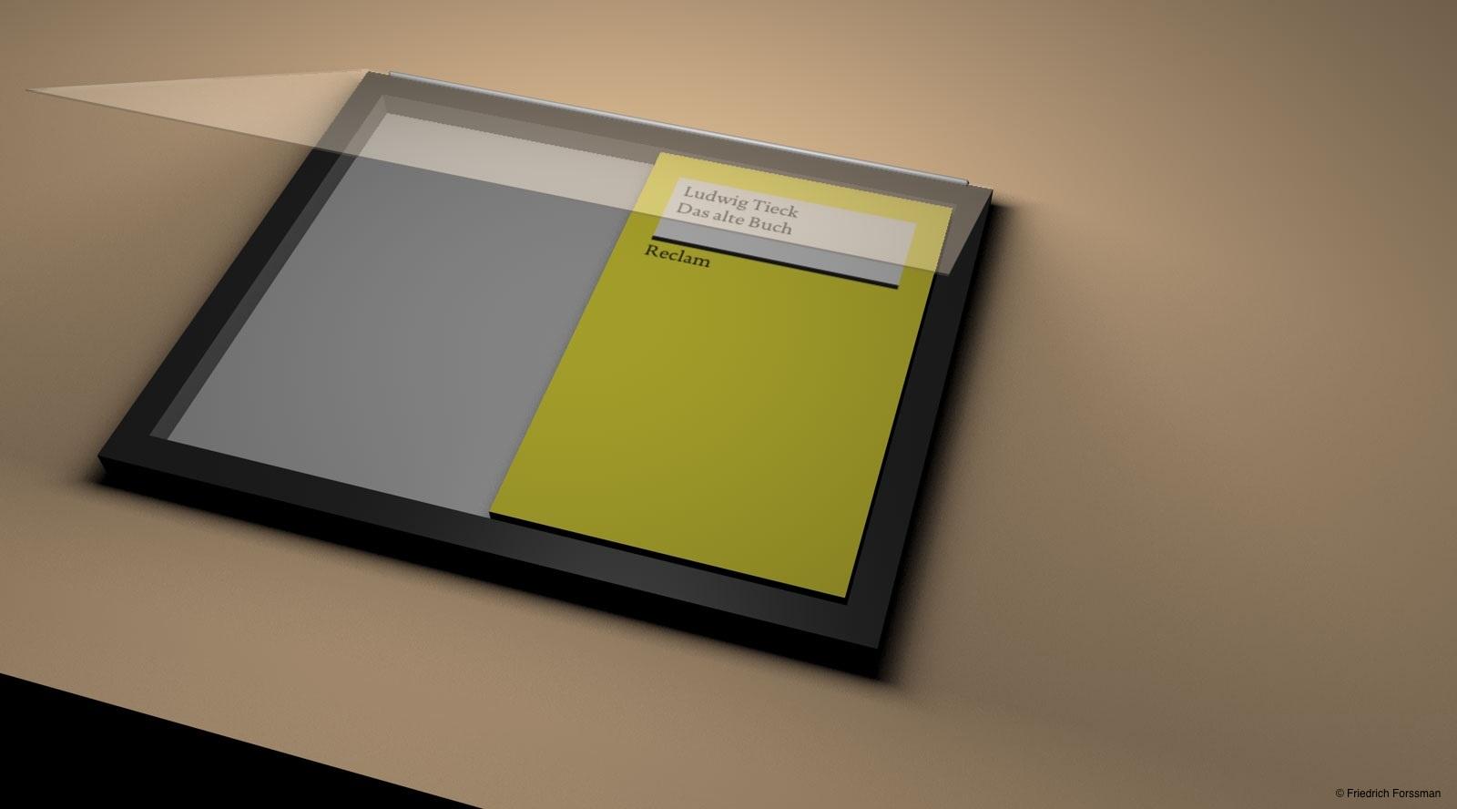 ... klappe das BragBook™ auf und lege das Buch hinein ...