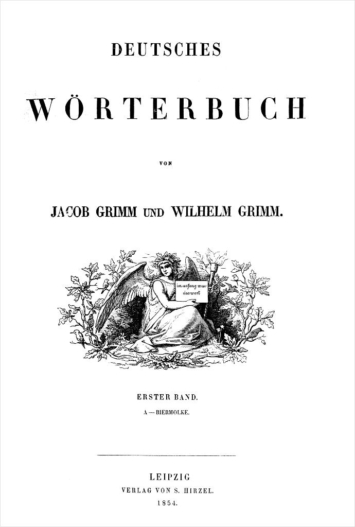 Grimm'sches Wörterbuch Titelblatt