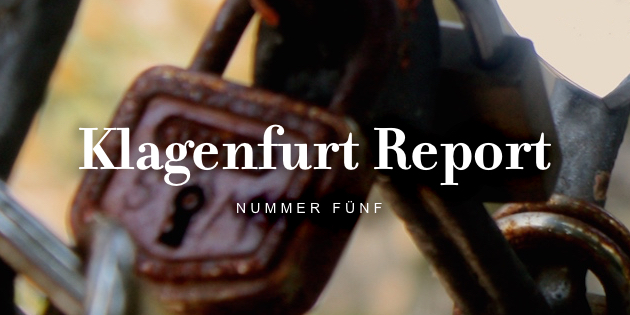 © Redaktion Klagenfurt Report / Suhrkamp Verlag