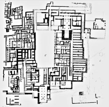Die Grabungsstätte Knossos. Sir Arthur Evans hielt den gesamten Palast des Minos für das Labyrinth.