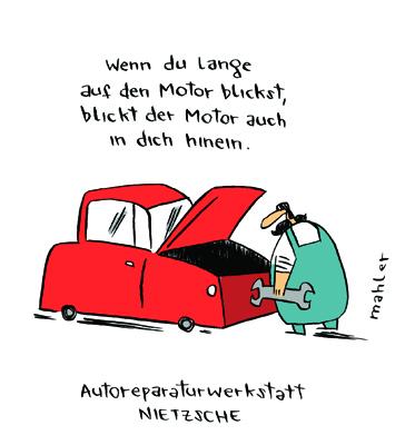 Nicolas Mahler: Autowerkstatt Nietzsche