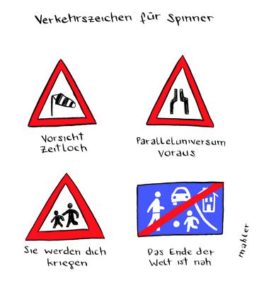 Nicolas Mahler: Verkehrszeichen für Spinner