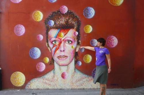 Stephanie Grimm und Bowie