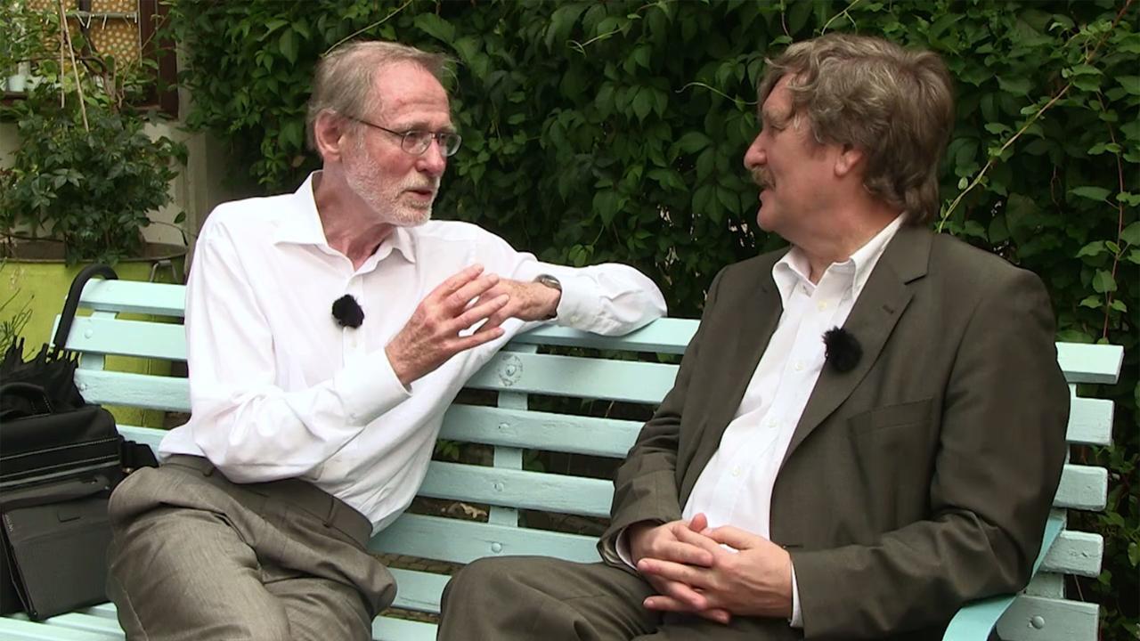 Uwe Johnson 80. Geburtstag - Manfred Bierwisch und Raimund Fellinger im Gespräch (Copyright: Suhrkamp Verlag)
