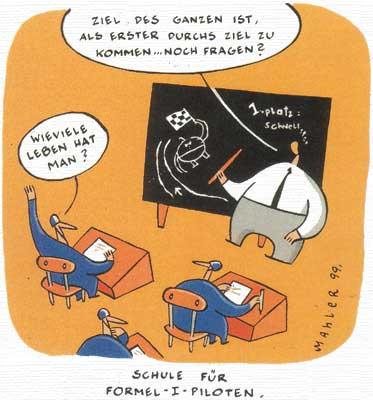 Nicolas Mahler: Schule für Formel-1-Piloten